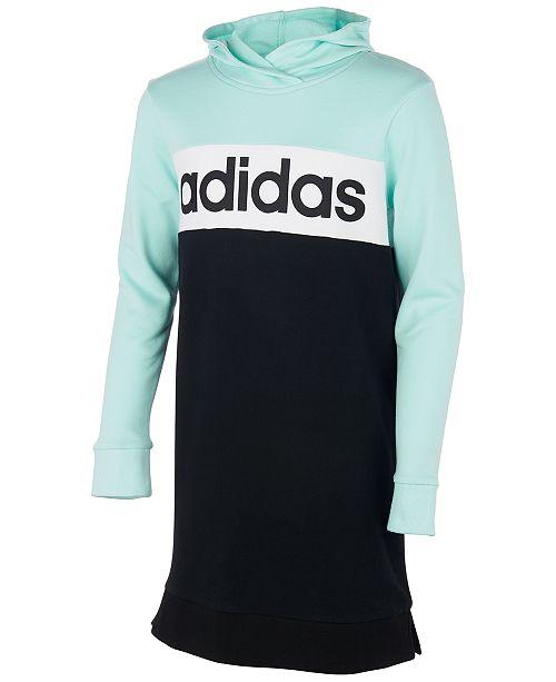 adidas Big Girls Colorblocked Hoodie Dress