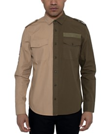 Sean John Men's Two-Tone Twill Shirt