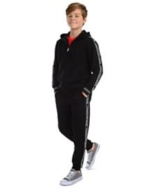 Calvin Klein Jeans Big Boys Logo Tape Fleece Hoodie & Joggers