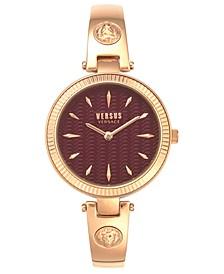 Women's Brigittes Rose Gold-Tone Stainless Steel Bracelet Watch 34mm