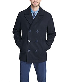 Men's Peacoat with Scarf