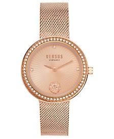Women's Léa Rose Gold-Tone Stainless Steel Mesh Bracelet Watch 35mm
