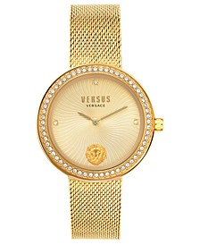 Women's Léa Gold-Tone Stainless Steel Mesh Bracelet Watch 35mm