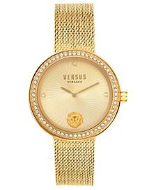 Women's Léa Gold-Tone Stainless Steel Mesh Bracelet Watch 35mm