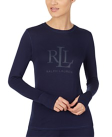 Lauren Ralph Lauren Logo Long Sleeve Pajama Top