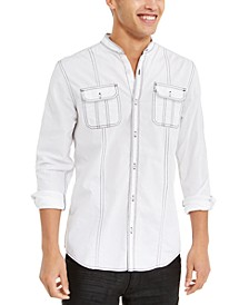 INC Men's Contrast Topstitched Shirt, Created for Macy's