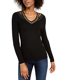 INC Studded Sweater, Created For Macy's
