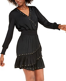INC Petite Studded Smocked Dress, Created For Macy's