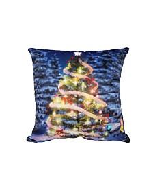 """Universal Home Fashions Christmas Tree Pillow, 18"""" x 18"""""""