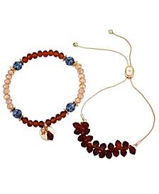 Slider And Stretch Set of 2 Bracelets
