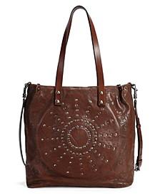 Stars Align Leather Tote Bag