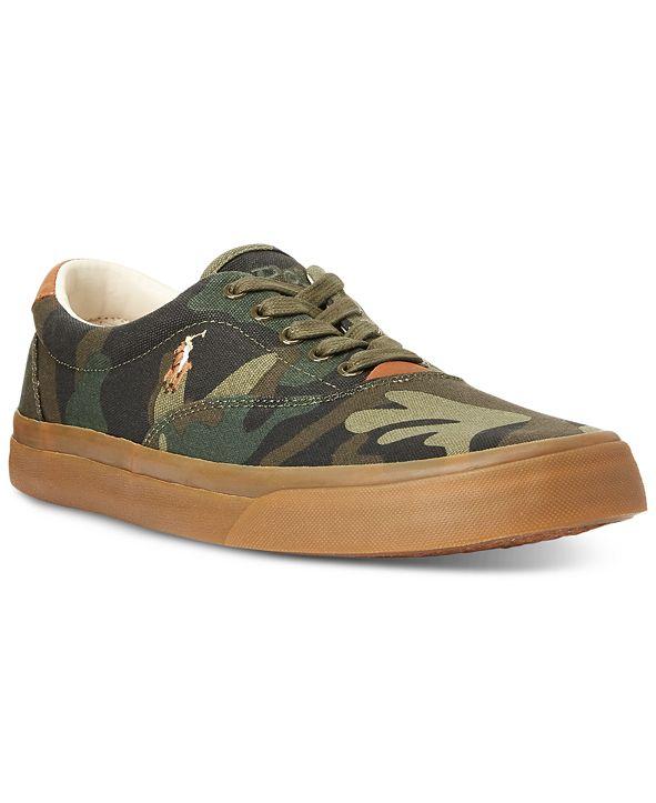 Polo Ralph Lauren Men's Thorton Camo Canvas Shoes