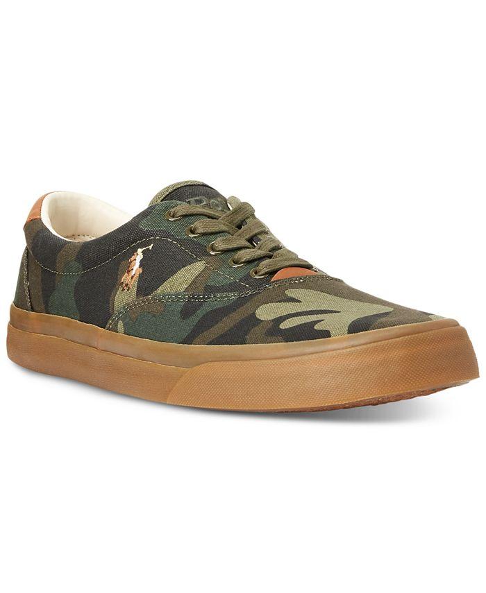 Polo Ralph Lauren - Men's Thorton Camo Canvas Shoes