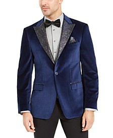 Men's Blue Velvet Dinner Jacket