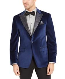 Tallia Men's Blue Velvet Dinner Jacket