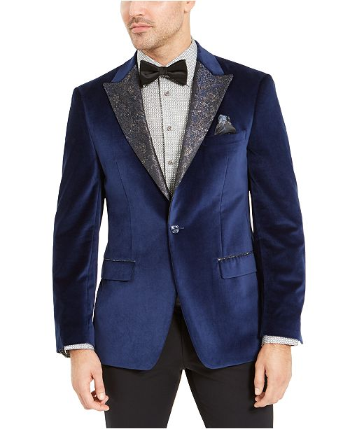 Tallia Men's Blue Velvet Dinner Jacket
