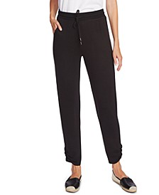 Cozy Ruched-Leg Jogger Pants