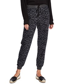 Vince Camuto Animal Notes Cotton French Terry Jogger Pants
