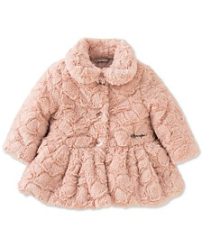 Calvin Klein Baby Girls Faux Fur Coat