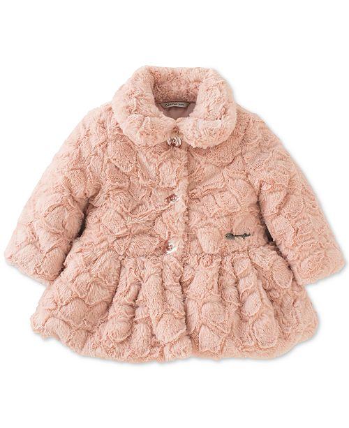 Calvin Klein Baby Girls Faux Fur Coat