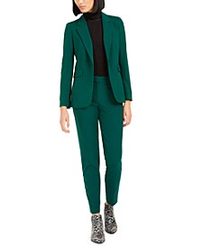 Notch-Lapel Jacket, Turtleneck Top, & Bi-Stretch Pants, Created For Macy's