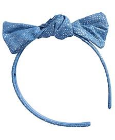 Little & Big Girls Denim Glitter Bow Headband