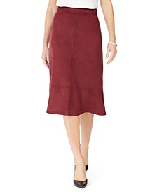 Faux-Suede A-Line Skirt