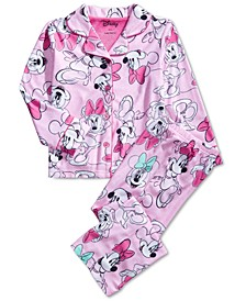 Little & Big Girls Minnie Mouse-Print Pajama Set