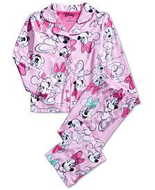 AME Little & Big Girls Minnie Mouse-Print Pajama Set