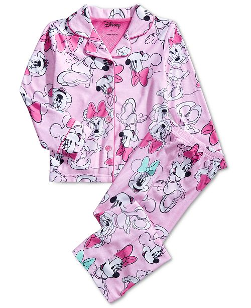 AME Little & Big Girls Minnie Mouse-Print Pajama Set
