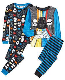 AME Little & Big Boys 4-Pc. Cotton Star Wars Pajama Set
