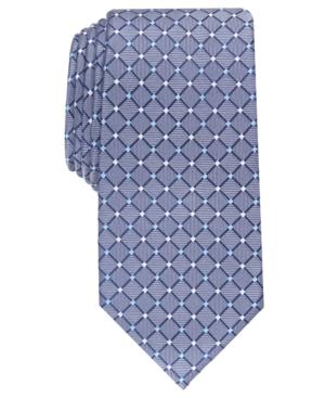Men's Classic Grid Silk Tie