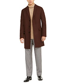 HUGO Men's Migor Slim-Fit Twill Overcoat