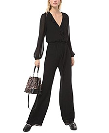 Ruffled Wrap Jumpsuit