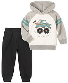 Toddler Boys 2-Pc. Cool Little Dude Truck Hoodie & Fleece Sweatpants Set