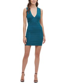 GUESS V-Neck Bandage Dress