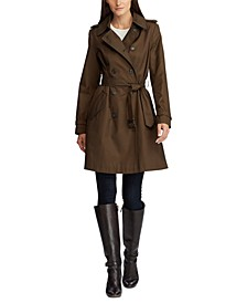Petite Double Breasted Trench Coat, Created for Macy's