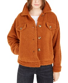Hippie Rose Juniors' Sherpa Trucker Jacket