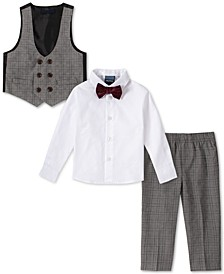 Baby Boys 4-Pc. Bowtie, Shirt, Double-Breasted Vest & Pants Set