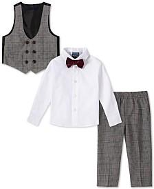 Nautica Baby Boys 4-Pc. Bowtie, Shirt, Double-Breasted Vest & Pants Set