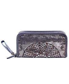 Mola Leather Clutch