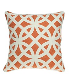 Chano Transitional Multicolored Pillow Cover With Down Insert