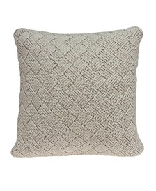 Aldo Transitional Beige Pillow Cover With Down Insert