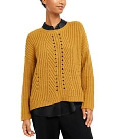 Eileen Fisher Textured-Knit Sweater