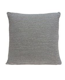 Paxon Transitional Grey Pillow Cover With Down Insert