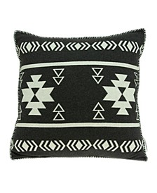Sioux Southwest Black Pillow Cover with Polyester Insert