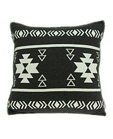 Parkland Collection Sioux Southwest Black Pillow Cover With Down Insert
