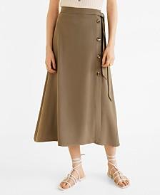 Mango Buttoned Midi Skirt