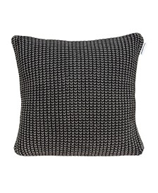 Cabo Transitional Charcoal Pillow Cover With Down Insert