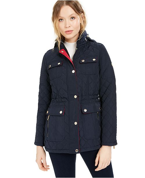 Michael Kors Hooded Quilted Anorak Coat, Created for Macy's